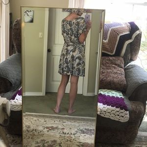 True Freedom Dresses - Black/white/yellow patterned sun/casual dress.